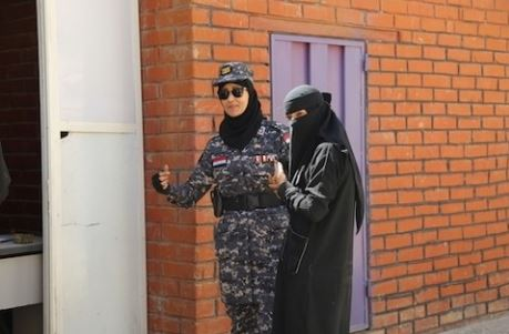 Bushra's female security guards help protect women at weddings, big exhibitions and bazaars. © UNFPA Yemen