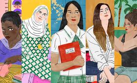 كيف تبدو عدم المساواة بين الجنسين؟ يمكن لهؤلاء الفتيات الخمس أن يجبن على سؤالكم. رسم من بوديل جين لصندوق الأمم المتحدة للسكان.